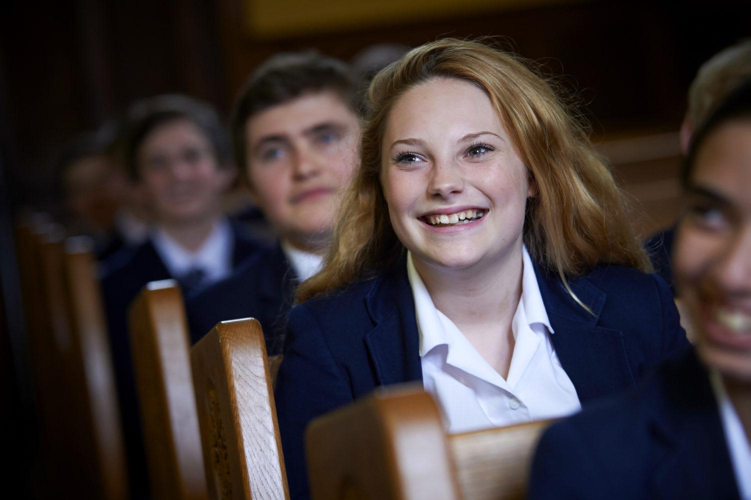 Bethany School pupils attend Chapel twice a week