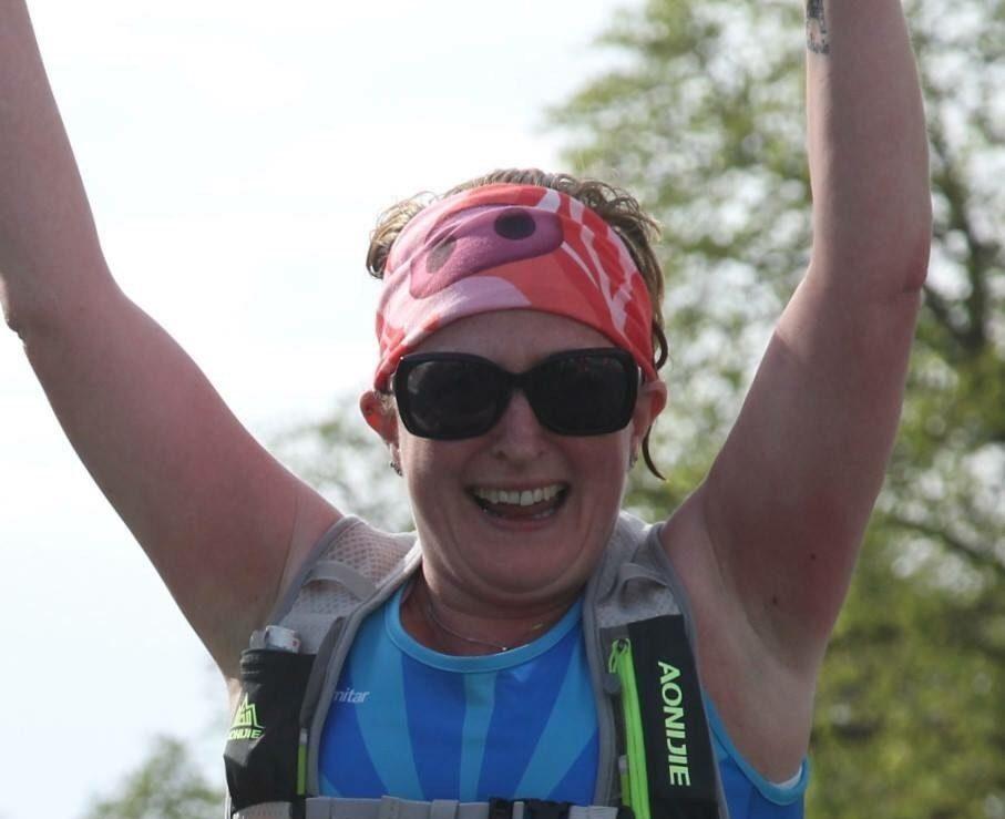 Liz completed the marathon in 5h50