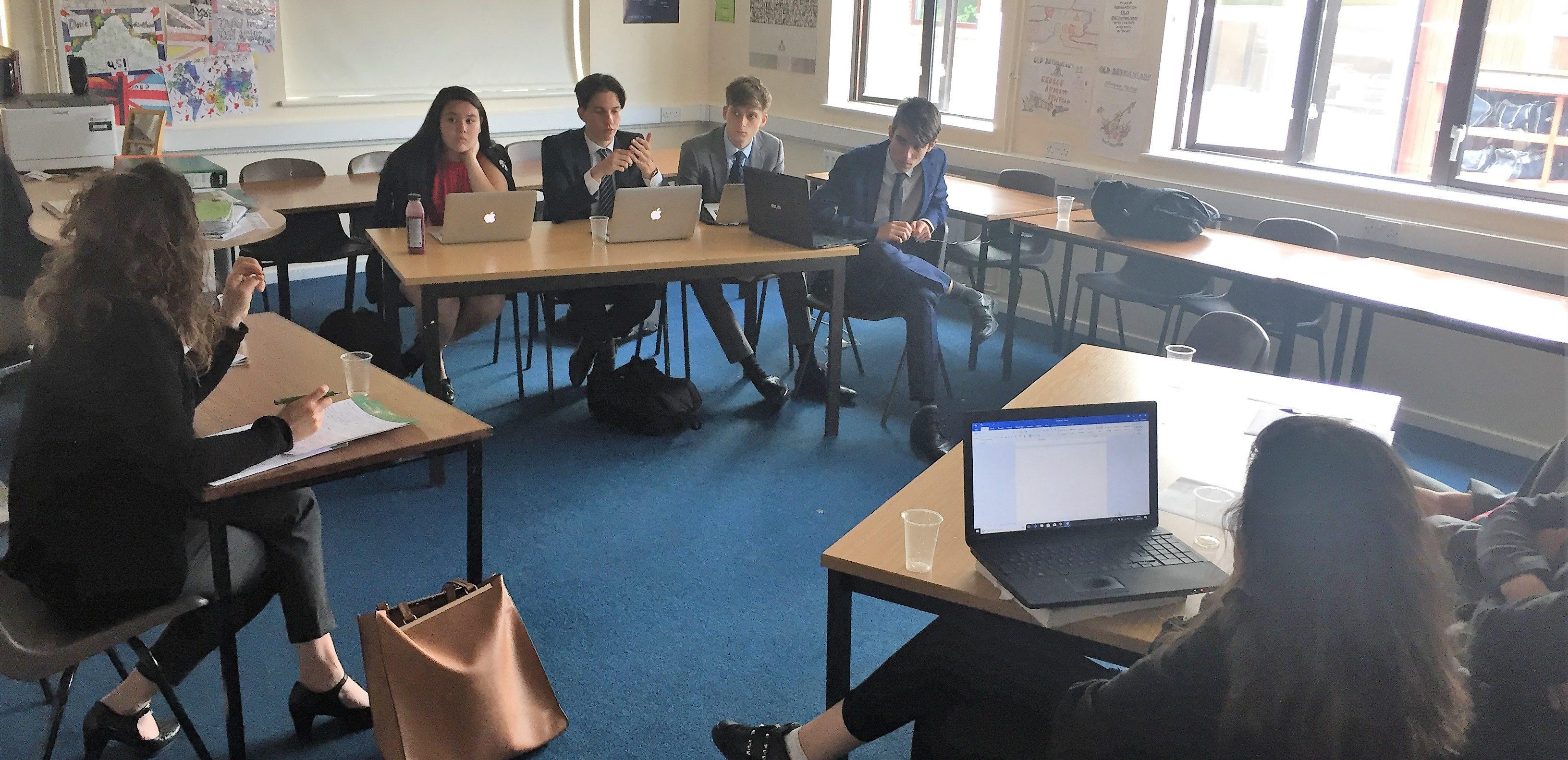 Year 12 pupils debate