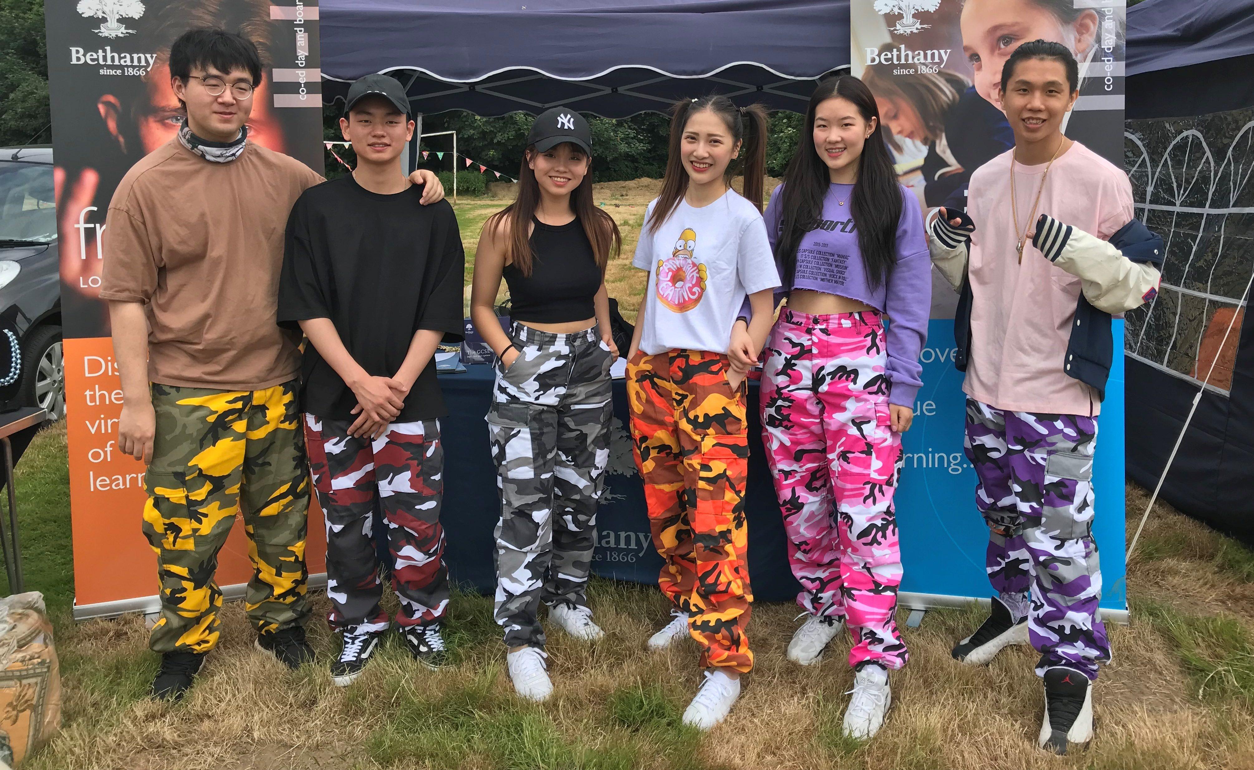 Sixth Form dance troupe at the Goudhurst Village Fete 2018.