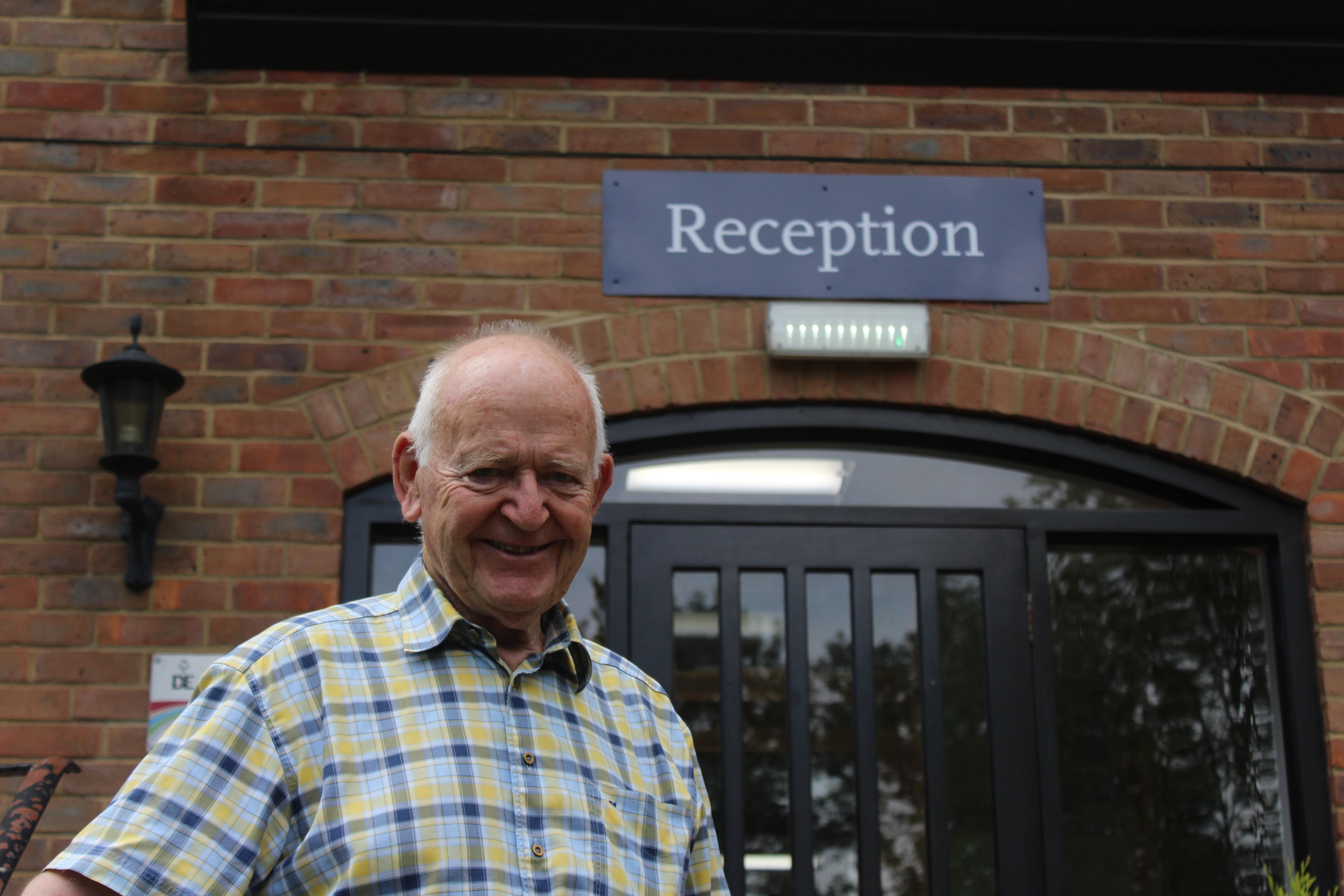 Former pupil, Brendan Parke, visited Bethany for some memories